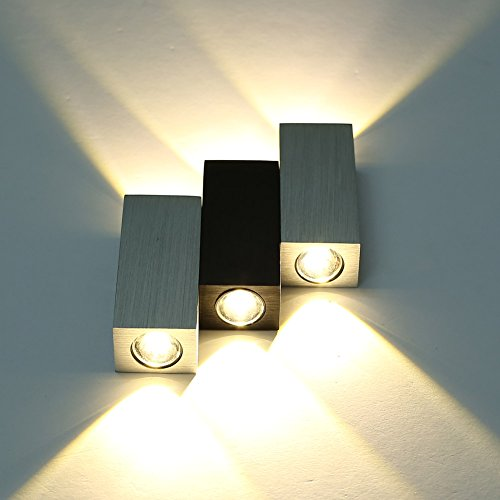 Wall Lamps Uae : Amzdeal 6W Warm White Up Down LED Wall Lamp for Bedroom/ Corridor Passage/ TV Setting Lamp ...