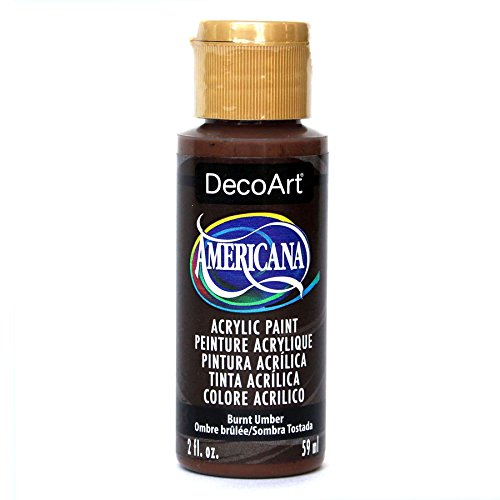 DecoArt Americana Acrylic Paint, 2-Ounce, Burnt Umber Decoart Americana Acrylic Paints