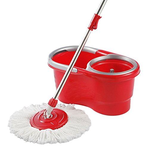 HAPINNEX Spin Mop Wringer Bucket Set - for Home Kitchen Floor Cleaning - Wet/Dry Usage on Hardwood & Tile -...
