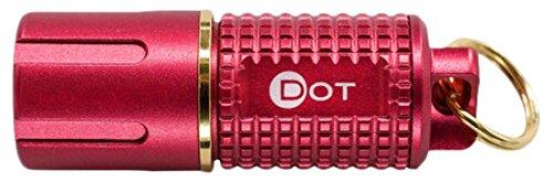 ASP Dot, Mini USB Rechargeable LED Flashlight, Lithium-Ion Battery, Bright XPG2 LED, 130 Lumens, Red