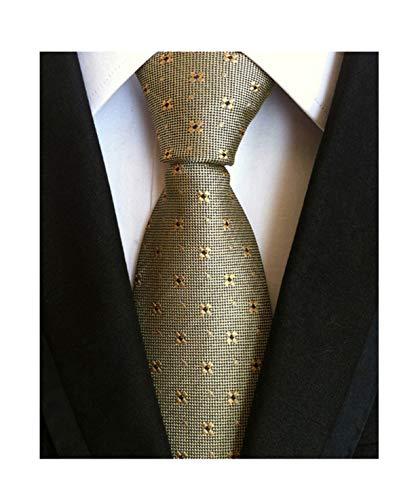 - Men Bronze Necktie Vintage Floral Silk Cravat Woven Leisure skinny Designer Ties