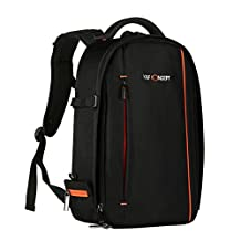 Camera Backpack,K&F Concept Large DSLR Camera and Laptop Bag Waterproof for Nikon, Canon, FujiFilm, Olympus and More Digital SLR Camera-(With Rain Cover)