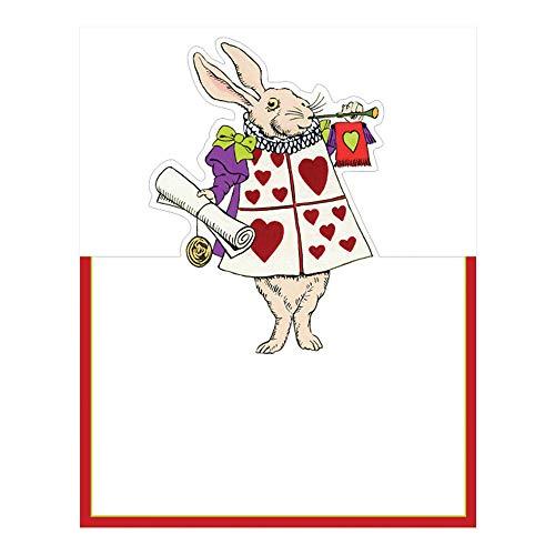 Caspari Alice in a Winter Wonderland Die-Cut Place Cards, 24 Included -
