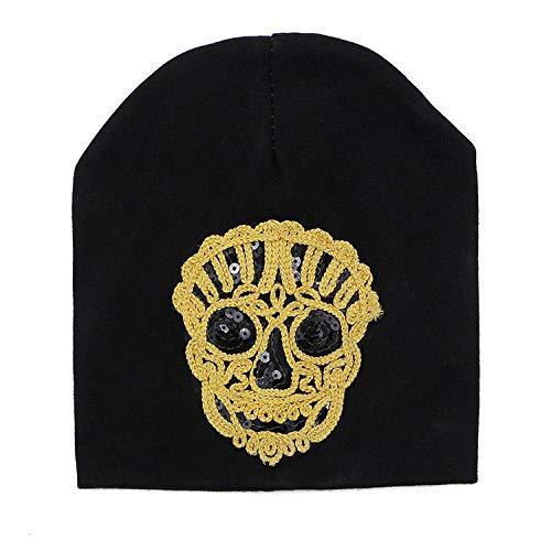 2019 Fox Skull Hats Boys Girls Cotton Beanie Hats Thin Bonnet Cap Cute Lion Skullies Beanies with Sequins
