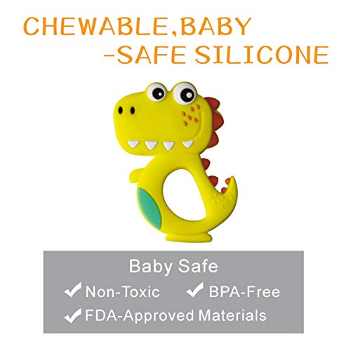 Baby Teething Toys, Food-Grade Silicone Teething Toys with Pacifier Clip/Holder,Soft & Textured Baby Teether for Infant and Toddler(JRBT-Penguin) BPA-Free