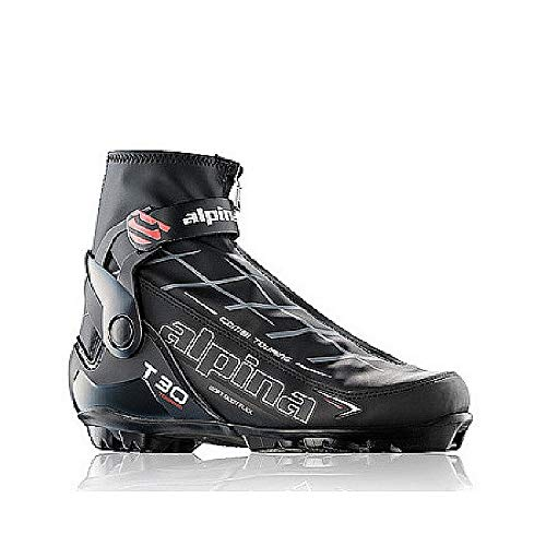 (Alpina Sports T30 Touring Cross Country Nordic Ski Boots, Euro 47, Black/White/Red)