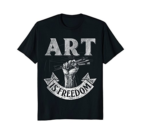 Mens Art is Freedom great t shirt for artists who love to draw Medium ()