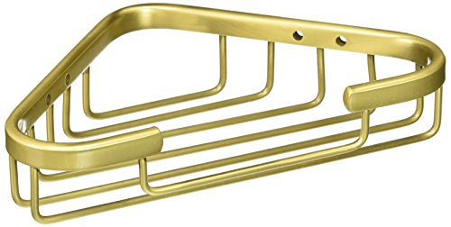Allied Brass BSK-10ST-SBR Solid Corner Shower Basket, Satin (Shower Basket Satin Brass)