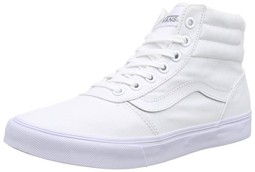 Hautes Sneakers Femme Vans canvas Blanc Milton white white Hi PzqHWtwUg