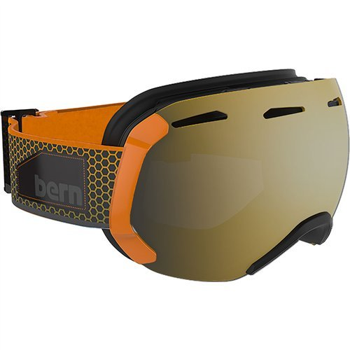 (Bern Eastwood Large Frame Goggles - Men's Orange/Grey Fade Hex Frame with Gold & Yellow/Blue)