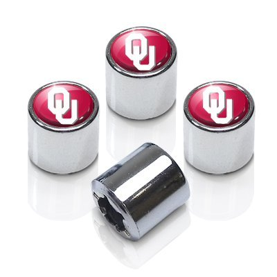 University of Oklahoma Sooners Chrome Tire Stem Valve Caps ()