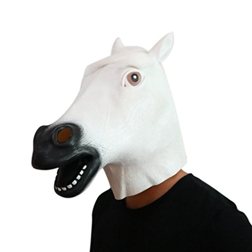 Woshishei 2017 New Novelty Fantastic Whimsey Costume Party Decoration Latex Mark Halloween Horse Mask