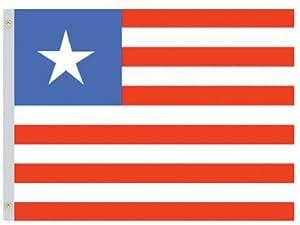 2x3 Liberia Flag Superior Outdoor Nylon