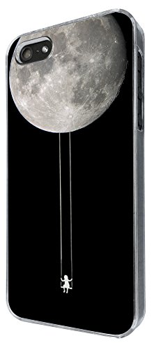326 - Swinging girl Hanging From moon Design iphone 4 4S Coque Fashion Trend Case Coque Protection Cover plastique et métal