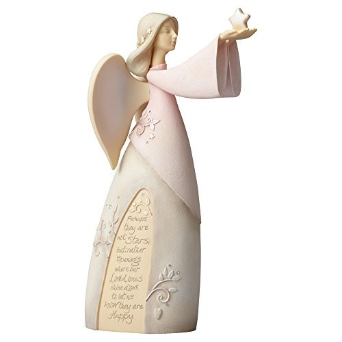 Foundations Enesco Bereavement Angel Figurine, Pale Pink from Foundations