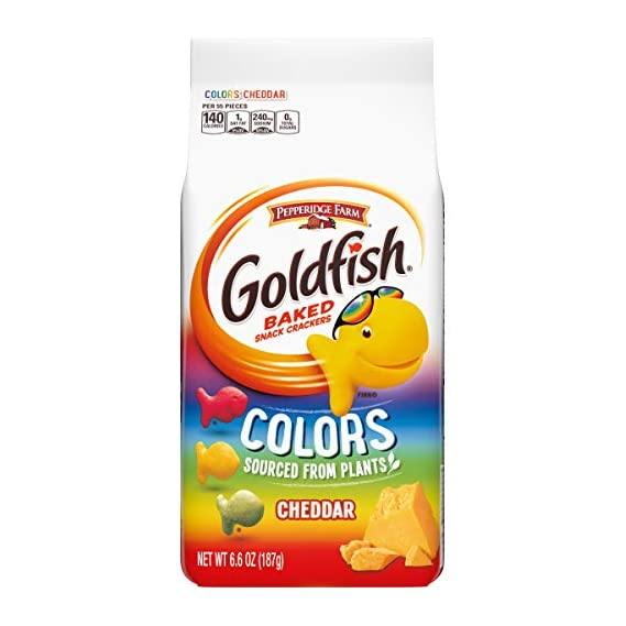 Pepperidge Farm Goldfish Baked Snack Crackers Colors, 187g