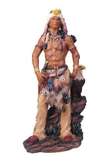 11'' Inch Native American Indian Statue Figure Western Figurine Warrior Indio Eagle
