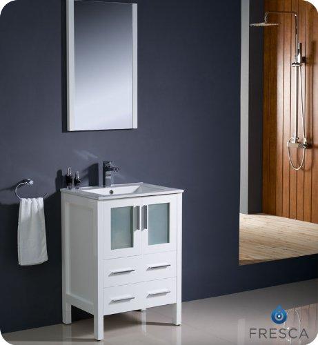 Fresca Bath FVN6224WH-UNS Torino 24