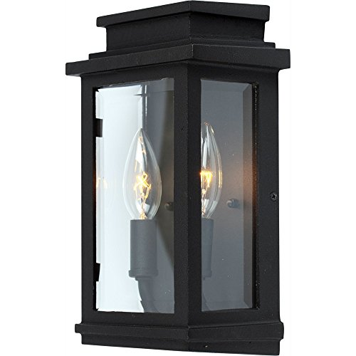 Artcraft Lighting Fremont Outdoor Wall Pocket Sconce, Black