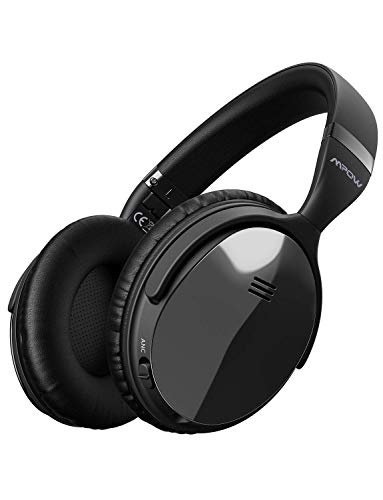 Mpow H5 [Gen-2] Active Noise Cancelling Headphones, Superior Deep Bass ANC Over Ear Wireless Bluetooth Headphones w/Mic, 30Hrs Playtime Comfortable Protein Earpads for PC/Cell ()