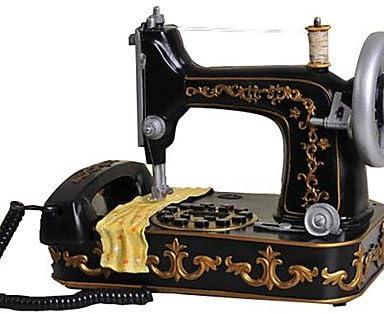 BO moda novedades máquina de coser con cable, diseño de teléfono antiguo creativa: Amazon.es: Hogar
