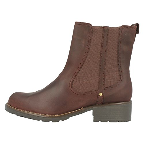 Clarks Orinoco Club Damen Halbschaft Stiefel Rosso (Burgundy Leather)