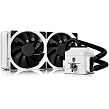 DEEPCOOL CAPTAIN 240EX WHITE AIO Liquid CPU Cooler, 240mm Radiator, Dual 120mm PWM Fans, White, AM4 Compatible, 3-year warranty