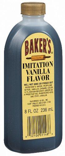 McCormick Baker's Imitation Vanilla Extract, 8 fl oz (Case of (Imitation Vanilla Extract)