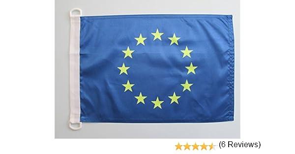 AZ FLAG Bandera Nautica de Europa 90x60cm - Pabellón de conveniencia Union Europea - UU.EE 60 x 90 cm Anillos: Amazon.es: Hogar