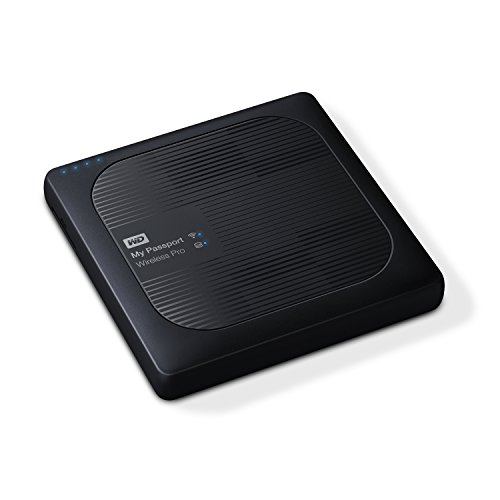 WD 2TB My Passport Wireless Pro Portable External Hard Drive - WiFi USB 3.0 - WDBP2P0020BBK-NESN