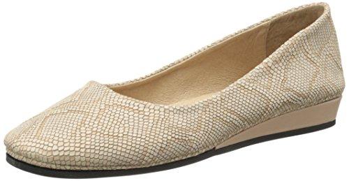 French Sole Women's Zeppa Slip on Shoes Ecru