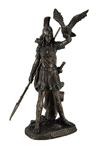 Athena – Greek Goddess Of Wisdom And War with Owl Statue