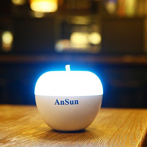 AnSun LED Night Light, Dimmable +7 Color Change +Touch Control +Breathing Sensor Portable Nursery Bedside Lamp, Children Room Decorations, Baby Toy, Ideal Gift for Kids Boys Girls Ladies