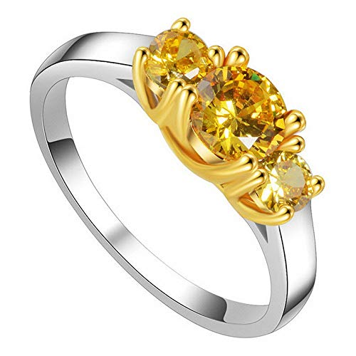 Waldenn 1.25ct Round Cut Yellow Cz Wedding Ring Womens 925 Silver Jewelry USA Size 5-11 | Model RNG - 26043 | 5