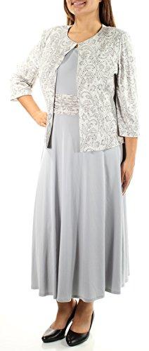 Jessica Howard Women's Dress and Jacket Set, Grey Combo, 6