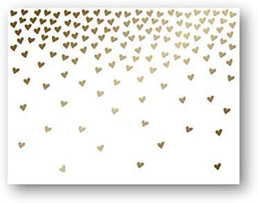 Falling Hearts プレミアムノートカード あらゆる機会に ボックス入りグリーティングカード | 誕生日 赤ちゃん 感謝 結婚式 婚約 お悔やみ あなたのことを思っている人 見逃し 空白 (12個パック)