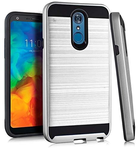Amazon com: Metallic Hybrid Cover for {T-Mobile} LG Q7 Plus