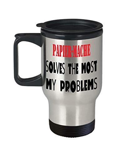 Insulated Travel Mug Papier-Mache mug pun mug funny coffee mug gift mug Papier-Macheman hobby mug best for special,al8180]()