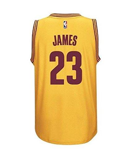 adidas Lebron James Men's Gold Cleveland Cavaliers Swingman Jersey ()