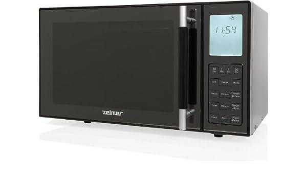 Zelmer MW4163LS - Microondas con grill, 23 l, 900 W, color negro ...