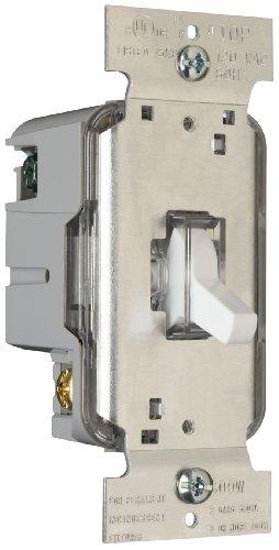 Pass & Seymour T600LWV Toggle Dimmer 600-watt Single Pole Lighted Easy Install White
