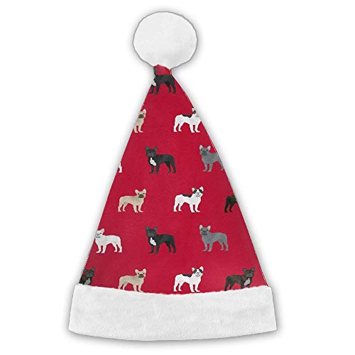 Kux14Bt French Bulldogs Dog Funny Party Hats Christmas