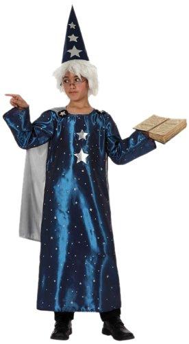 Atosa - 10796 Disfraz Mago, Color Azul, 7 a 9 años, 10796