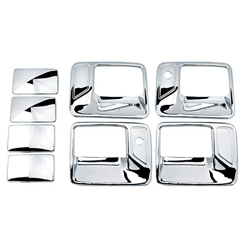 Chrome Door Handle Excursion (SKWAutoParts Chrome Door Handle Cover 4D W/Passenger Keyhole for 99-16 Ford F250/F350 Superduty / 00-05 Excursion)