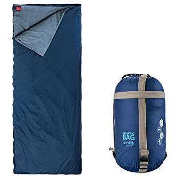 Spring autumn Outdoor camping Ultra light small Portable Envelope sleeping bag(deep blue)
