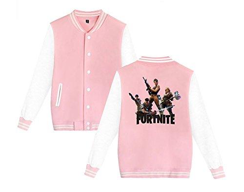 Donne Unisex Baseball Aivosen Sweatshirts E Casual Allentato Moda Leggera Per Stampate Fortnite Giacca Pink Uomini Da Comode gdxq4Zxw