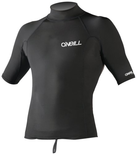 O'Neill Wetsuits UV Sun Protection Mens Thermo Short Sleeve Crew Sun Shirt Rash Guard ,Black, XXLarge Short Sleeve Thermo Guard