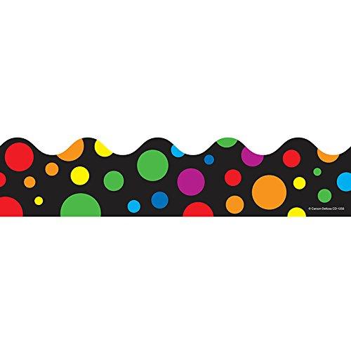 Carson Dellosa Big Rainbow Dots Borders (1255) ()