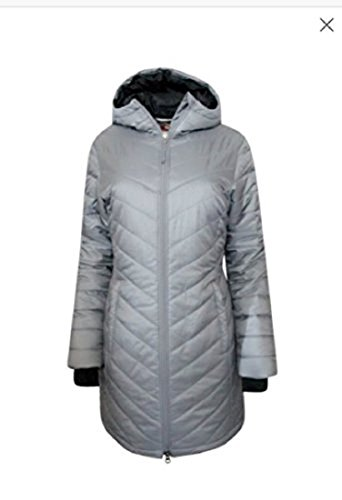 Columbia Omni-Heat Morning Light II Hooded Womens Coat Parka, Silver, X-Small (Hooded Parka Coat)