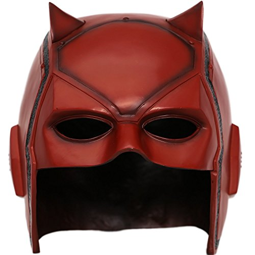 [XCOSER DD Matt Mask Helmet Props for Adult Halloween Costume PVC Updated] (Daredevil Costumes Replica)